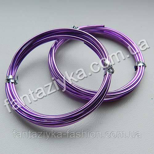 Проволока для рукоделия светло-фиолетовая, толщина 1,5мм моток 1м