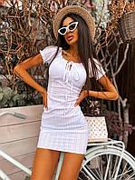 Женский сарафан бюстье белоснежного цвета Код275ВИ