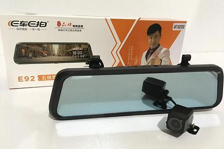 DVR E92 зеркало с двумя камерами 1080P full screen 10'', фото 2