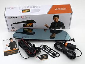 """Зеркало видеорегистратор DVR C12 с двумя камерами Full HD, Автомобильное зеркало видеорегистратор 4,3"""""""