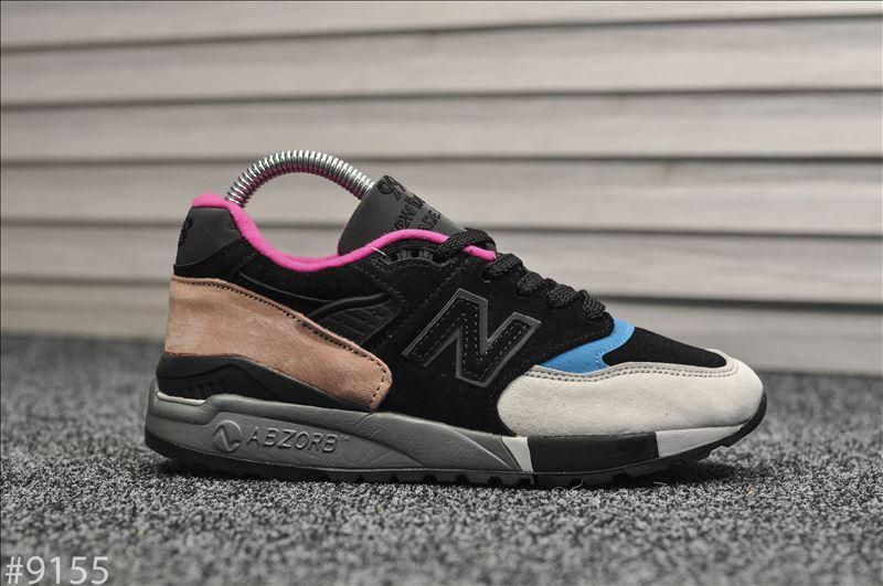 Жіночі кросівки New Balance 998 Чорні замшеві, Репліка