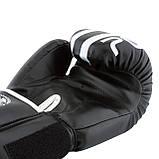Боксерські рукавиці PowerPlay 3010 Чорно-Білі 10 унцій, фото 5