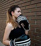 Боксерські рукавиці PowerPlay 3010 Чорно-Білі 10 унцій, фото 9