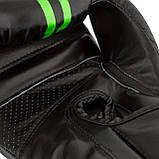 Боксерські рукавиці PowerPlay 3016 Чорно-Зелені 12 унцій, фото 4