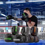 Боксерські рукавиці PowerPlay 3016 Чорно-Зелені 12 унцій, фото 10