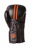 Боксерські рукавиці PowerPlay 3016 Чорно-Оранжеві 14 унцій, фото 2
