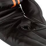 Боксерські рукавиці PowerPlay 3016 Чорно-Оранжеві 14 унцій, фото 6