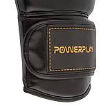 Боксерські рукавиці PowerPlay 3016 Чорно-Оранжеві 14 унцій, фото 7