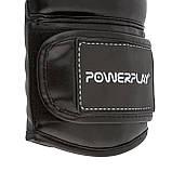 Боксерські рукавиці PowerPlay 3016 Чорно-Білі 10 унцій, фото 4