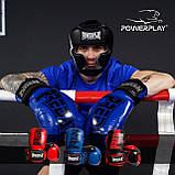 Боксерські рукавиці PowerPlay 3017 Червоні карбон 10 унцій, фото 10