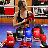 Боксерські рукавиці PowerPlay 3019 Сині 12 унцій, фото 10