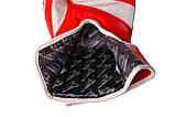Боксерські рукавиці PowerPlay 3023 A Червоно-Білі [натуральна шкіра] 16 унцій, фото 4
