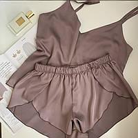 Пижама шелковая женская маечка и шортики Orli Diva, фото 1