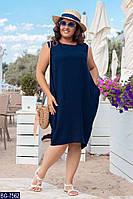 Женское платье летнее льнянное батал / большие размеры