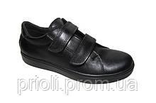 Детские туфли на липучках для мальчиков кожаные оптом