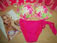 Купальник Victoria's Secret push-up тропический персик  (38С+S)