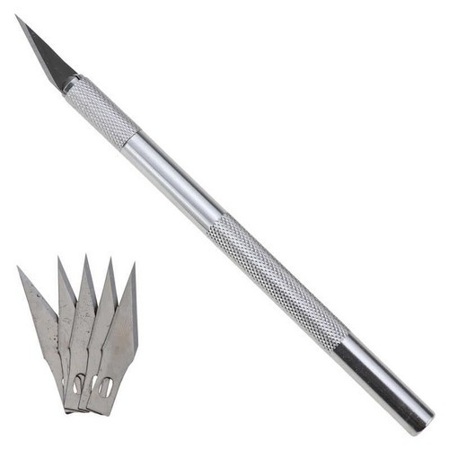 Макетный нож + 5 лезвий