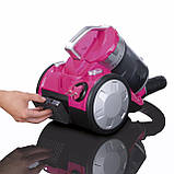 """Циклонний пилосос без мішка CLEANmaxx """"2400"""" HEPA-фільтр 700 Вт Німеччина рожевий, фото 3"""
