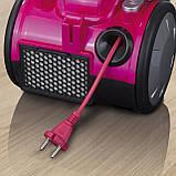 """Циклонний пилосос без мішка CLEANmaxx """"2400"""" HEPA-фільтр 700 Вт Німеччина рожевий, фото 7"""
