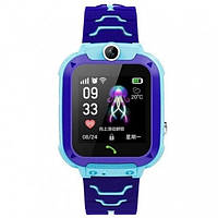 Детские смарт-часы S12 с камерой и Gps Голубые