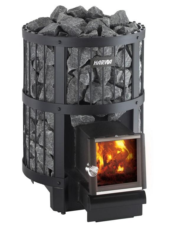 Дровяная каменка для русской бани и финской сауны Harvia Legend 150 SL загрузка камней до 120 кг