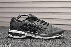 Чоловічі кросівки Asics Gel Kayano 25 Gray Black Сірі, Репліка