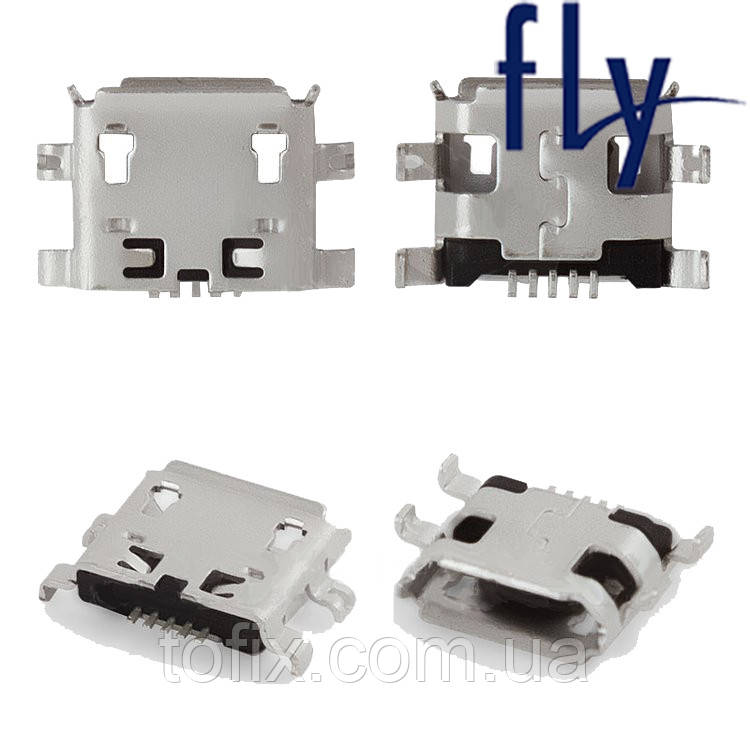 Коннектор зарядки для Fly IQ449, IQ431, IQ239, E154, 5 pin, Micro-USB тип-B, оригинал