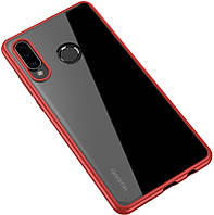 Чехол-накладка Ipaky Bright Series TPU frame With Clear PC Case Huawei P30 Pro Red Clear 99028, КОД: 1317543