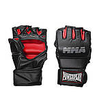 Перчатки для MMA PowerPlay 3053 Чорно-Червоні S/M, фото 4