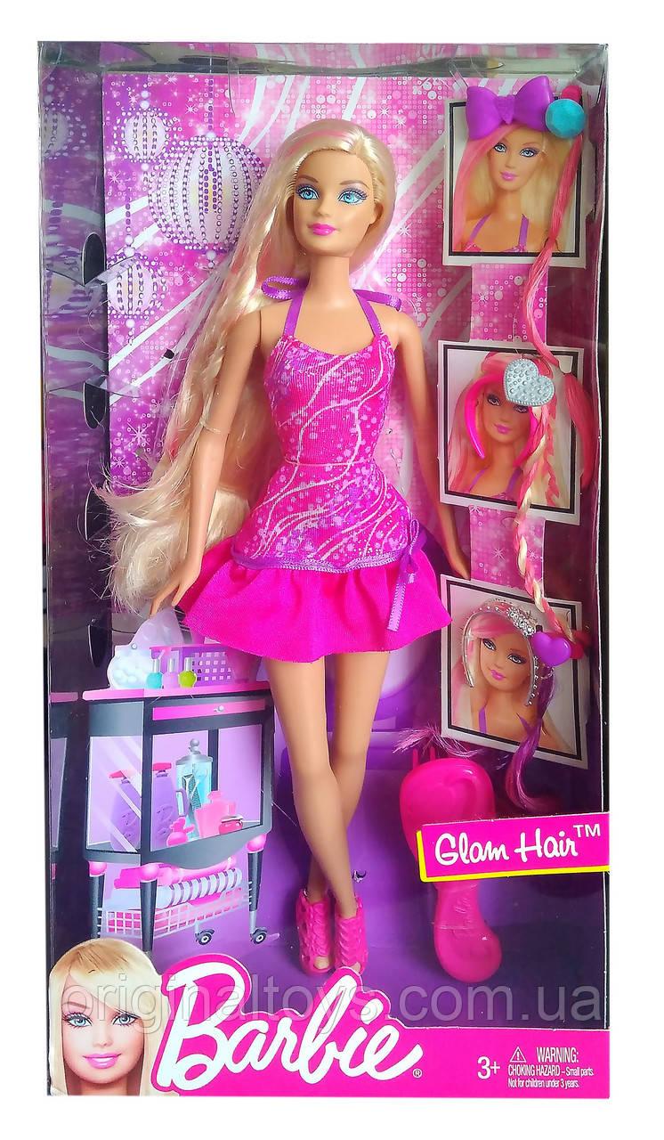 Кукла Барби Стильная прическа Barbie Glam Hair 2012 Mattel X7887