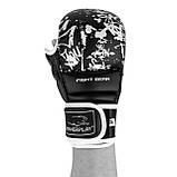 Перчатки для карате PowerPlay 3092KRT Чорні-Білі S, фото 5