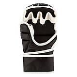 Перчатки для карате PowerPlay 3092KRT Чорні-Білі S, фото 6