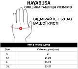 Рукавички для MMA Hayabusa T3 - Чорні M 4oz (Original), фото 5