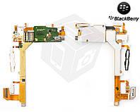 Шлейф для Blackberry 9800, кнопок звука, камеры, динамика, с компонентами, оригинал