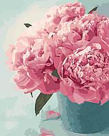"""Картина по номерам """"Розовые пионы"""" 40*50 см в коробке, ArtStory + акриловый лак, фото 1"""