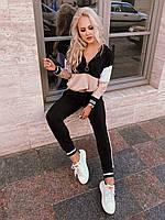 Женский удобный стильный спортивный костюм,кофта на молнии с кольцом,штаны на манжете (двухнитка) 4 цвета