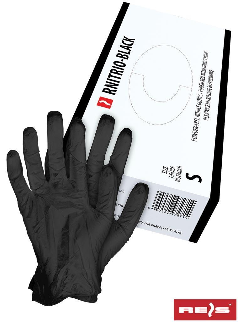 Нітрилові рукавиці чорного кольору - без пудри RNITRIO-B BLACK