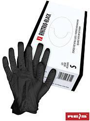 Нитриловые рукавицы черного цвета - без пудры RNITRIO-BLACK B