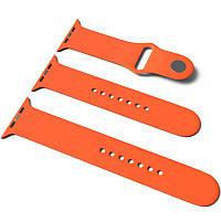 Силиконовый ремешок для Apple Watch Sport Band 38 / 40 (S/M & M/L) 3pcs Оранжевый / Orange