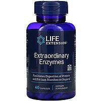 """Пищеварительные ферменты Life Extension """"Extraordinary Enzymes"""" 200 мг (60 капсул)"""