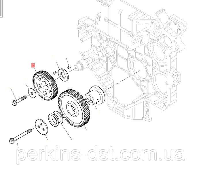 T418682 шестерня распредвала для двигателя Perkins 1104