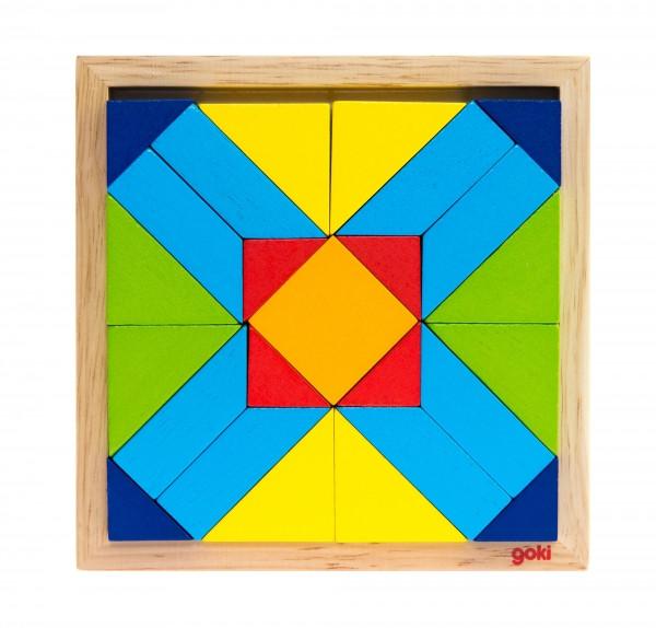 Goki Дерев'яний пазл - Світ форм - прямокутники