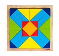 Goki Дерев'яний пазл - Світ форм - прямокутники, фото 1