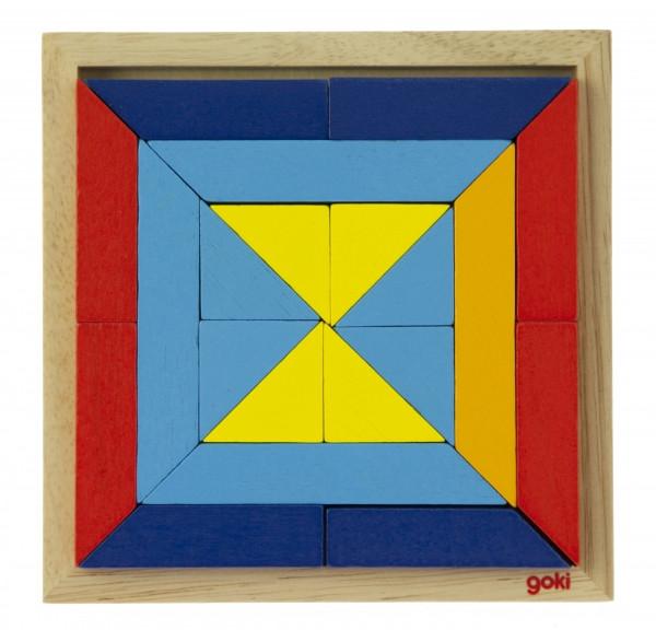 Goki Дерев'яний пазл - Світ форм - трикутники