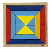 Goki Дерев'яний пазл - Світ форм - трикутники, фото 1