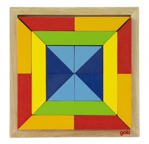 Goki Дерев'яний пазл - Світ форм - квадрат