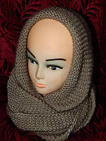 Зимняя шапка и шарфик,женский комплект
