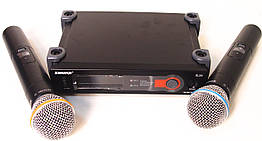 Радиосистема Shure SLX4 база 2 микрофона Черный Реплика 009628, КОД: 1766051