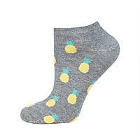 """Короткие серые женские носки Soxo """"ананас"""""""