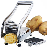 Картофелерезка Potato Chipper нержавеющая сталь NJ7584 Серебристый 10gadkrp215fhj, КОД: 1031471
